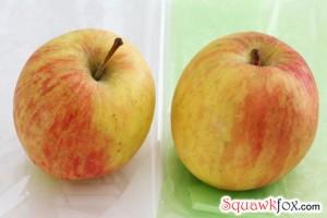 green bags apples